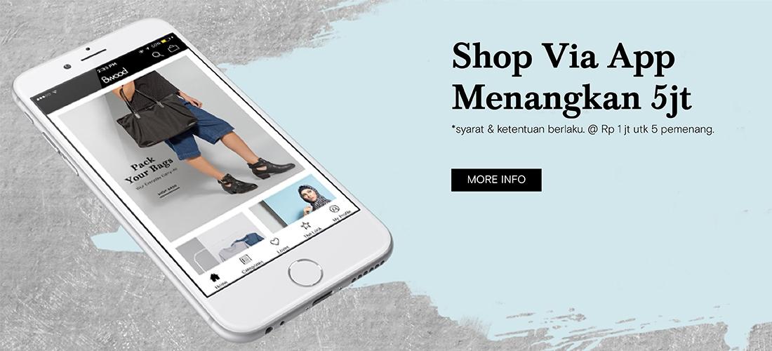 Shop to Win via App
