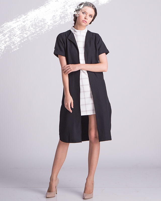 Black Long Outer Vest