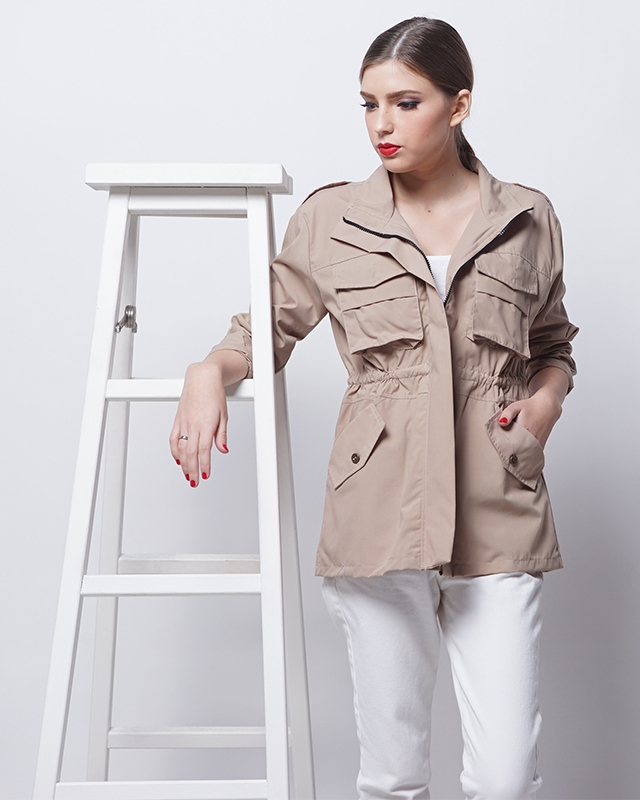 Light Brown Parka Outer